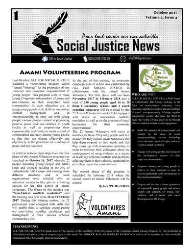 Social Justice News Volume 2, Issue 4