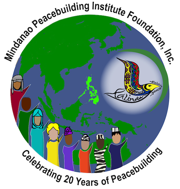 MPI Celebrating 20 Years of Peacebuilding Globe with diverse characters and MPI logo