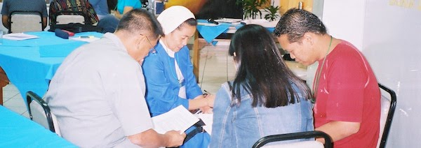 2005 participants in small group, including a religious sister