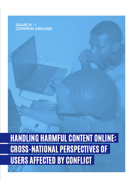 Handling Harmful Content Online: Cross-National Perspectives of Users Affected by Conflict
