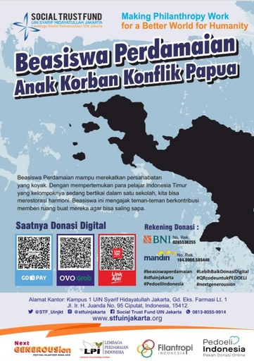 Peace Scholarships for Post-Conflict Areas in Papua, Indonesia, flyer