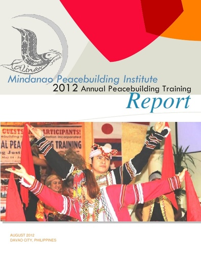 Annual Training Report: MPI 2012 Annual Peacebuilding Training